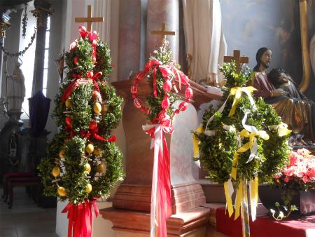 復活祭の教会飾り1