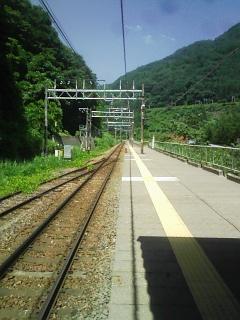 夏の湯檜曽駅