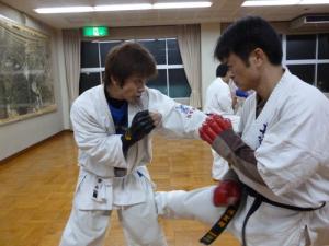 20140115 300 ミット稽古 立岡氏&安藤氏 01