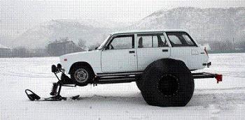 ロシア製スノーモービルキット02