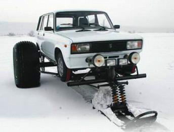 ロシア製スノーモービルキット01