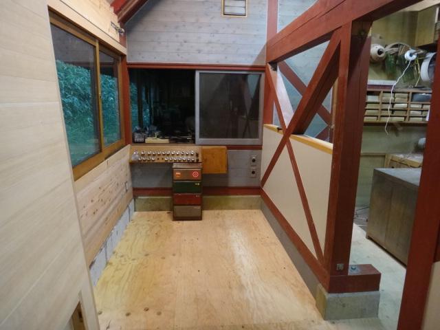 増築部分の床完成