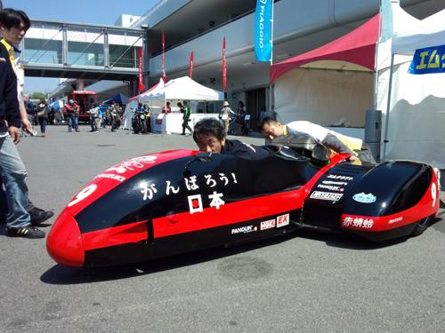 サイドカーレースのバイク