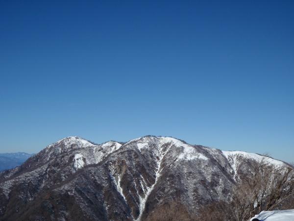 塔山頂から丹沢方面