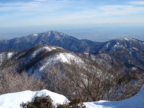 塔山頂から新大日