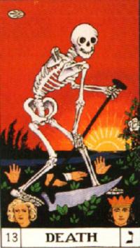 フォスターケース版タロット『死神』