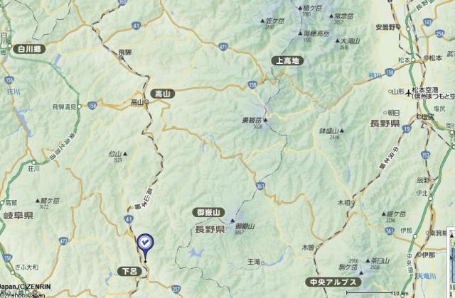 下呂温泉 広域