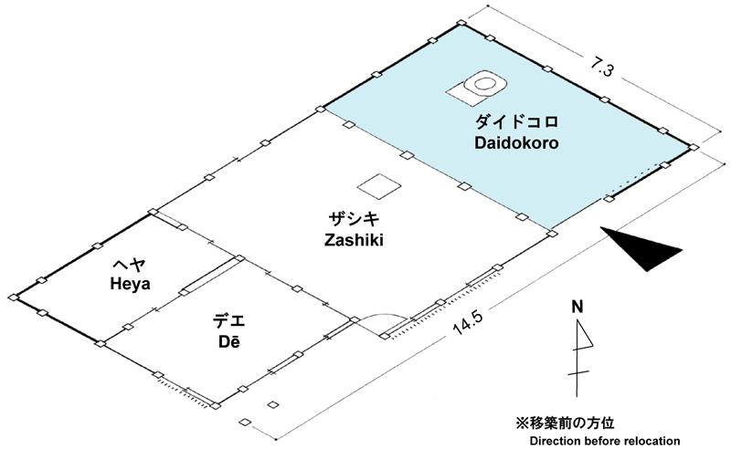 岩澤家住宅の間取り図