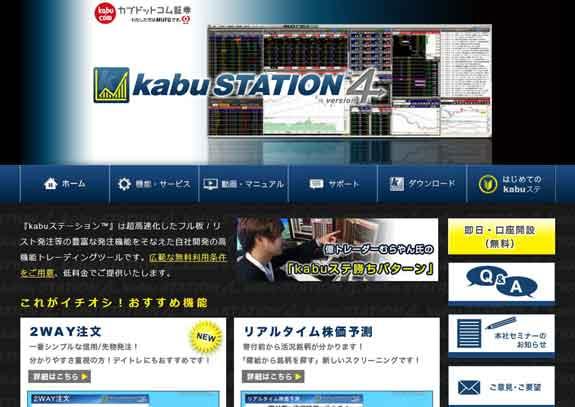 カブドットコム証券取引ツールkabuステーション4の便利な機能!