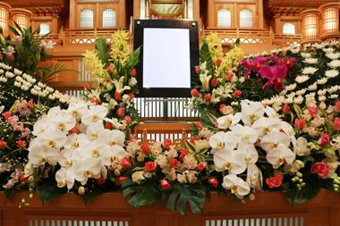 バラ花祭壇4844