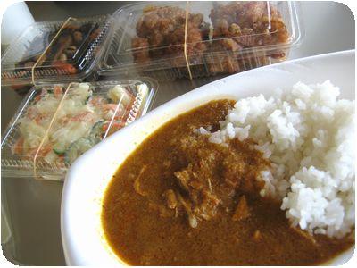 カレーライス+惣菜