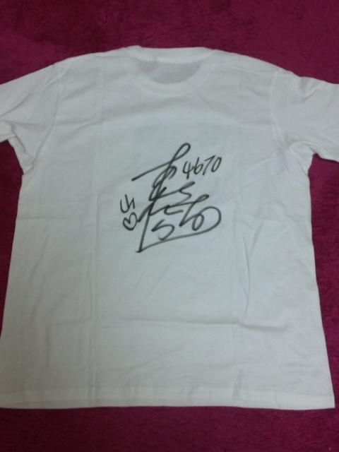 芦村選手サイン入りTシャツ