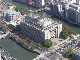 現在の大阪市役所