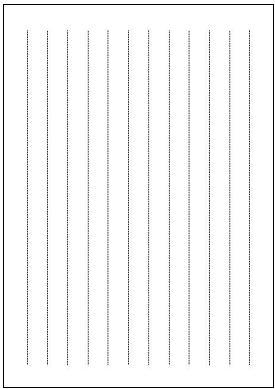 便箋(A4縦書き・点線)テンプレート