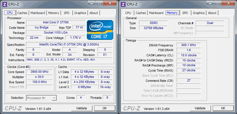 【メインPC】CPU-Z 1.61