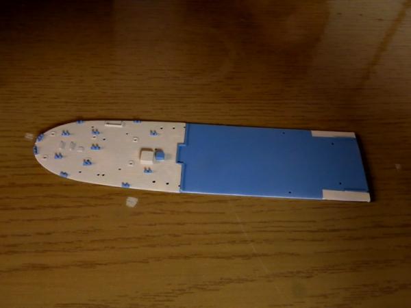 後部甲板塗装