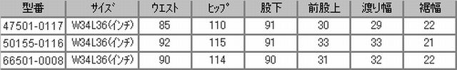 LVCサイズ比較表2