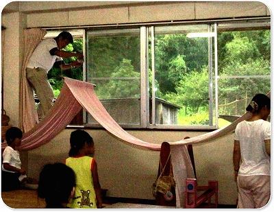 幼稚園の日記 毎年恒例「夏の園庭整備&本村佳久先生講演会」