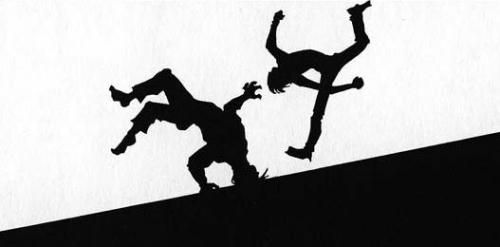マジタニさんをブン殴るクラピカ@冨樫義博著「HUNTER×HUNTER」3巻より
