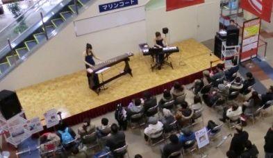 箏とピアノの調べ 上から見ると…