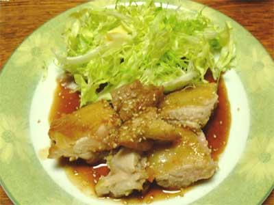 鶏の照り焼き3