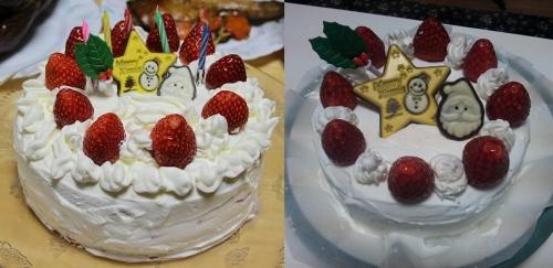 ケーキの結合写真