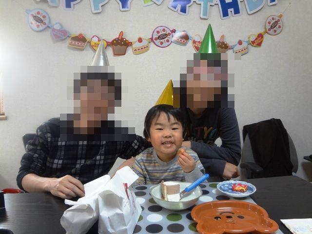 誕生日の家族写真