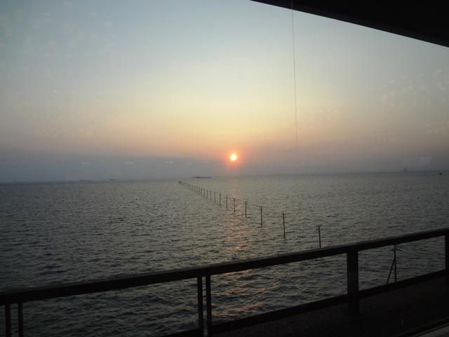 竜宮城スパホテル三日月の食事場からの風景