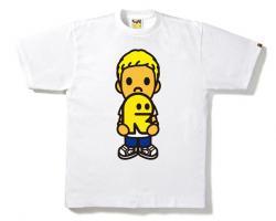 rirelog x BAPE Tシャツ