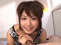 川上奈々美がオナニーしながらフェラ抜き!そのまま男潮を吹かせちゃいます!