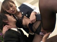 長身黒ストッキング女子社員藤咲葵 愛川香織 水嶋りこ