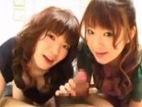 美女2人のフェラ責めで大量顔射【Xvideos】