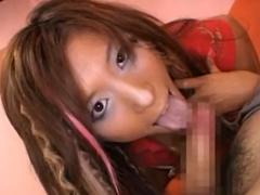 黒ギャル化した立花里子の下品なフェラと高速手コキがハンパない!