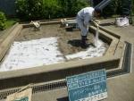 抗菌砂、散布