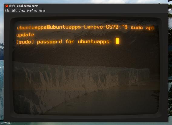 Cool Retro Term Ubuntu 端末エミュレーター