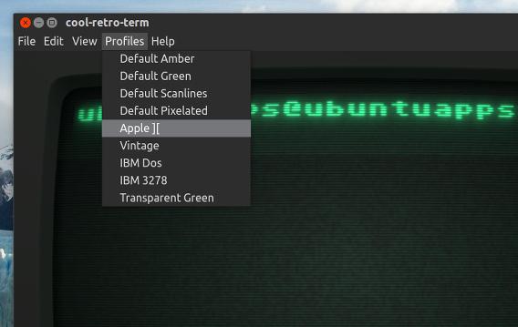 Cool Retro Term Ubuntu 端末エミュレーター テーマの変更
