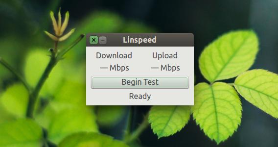 Linspeed Ubuntu インターネット速度 測定開始