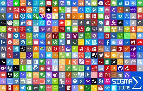 Ubuntu 14.10 Windows 8 フラット アイコン Sigma-Beta プレビュー
