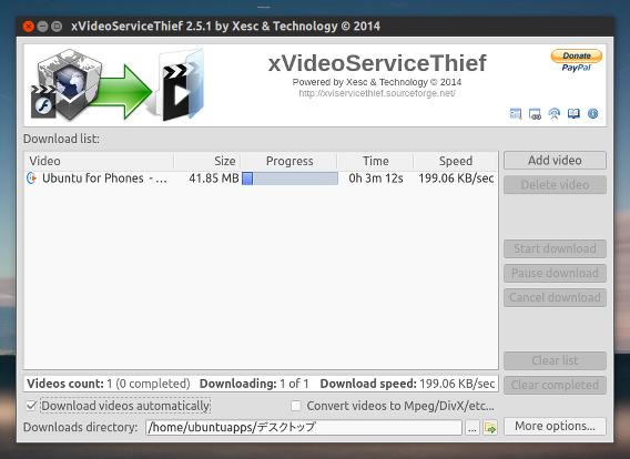 xVideoServiceThief Ubuntu 動画 ダウンロード