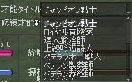 才能タイトル チャンピオン戦士 29