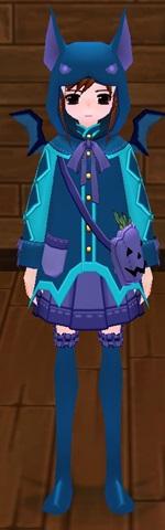 モーションキャンセル ハロウィンかぼちゃコウモリ衣装 染色済み