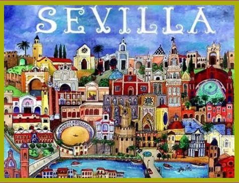 いまも昔もカラフルなセビーリャの街