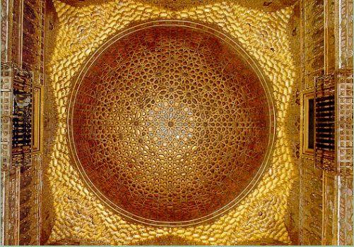 半オレンジのドーム天井 王の謁見室