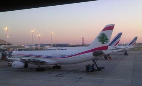 2012.07.25に撮影 スペイン旅行の経由地パリ・シャルルドゴールで撮影。レバノンの国営機に遭遇、おお!