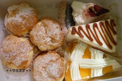バニラビーンズのケーキたち。